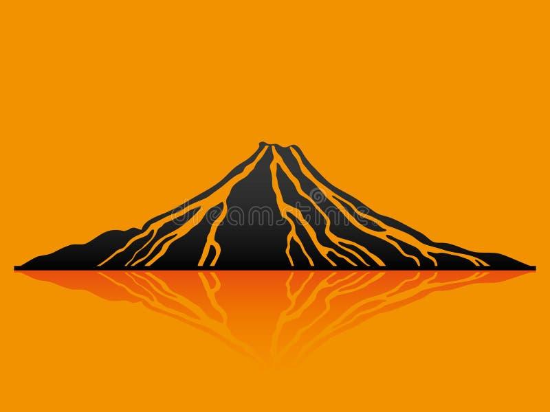Vector illustration. Volcano. vector illustration