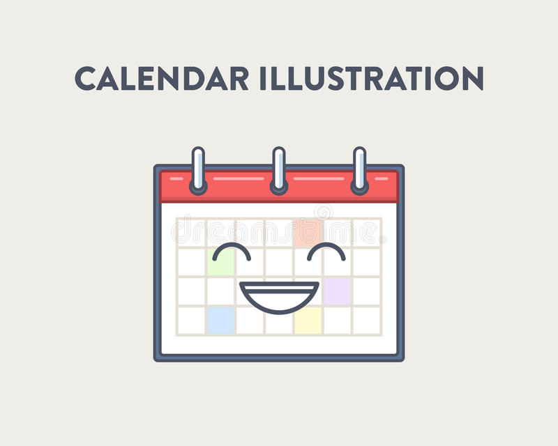 Vector Illustration von einem einfachen, nett und lächeln lizenzfreies stockfoto