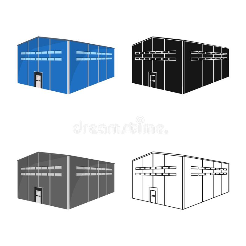 Vector design of warehouse and storage logo. Set of warehouse and hangar vector icon for stock. vector illustration