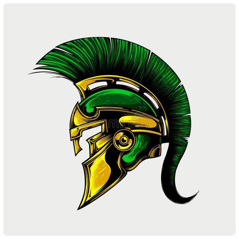 Vector illustration of warrior spartan stock image