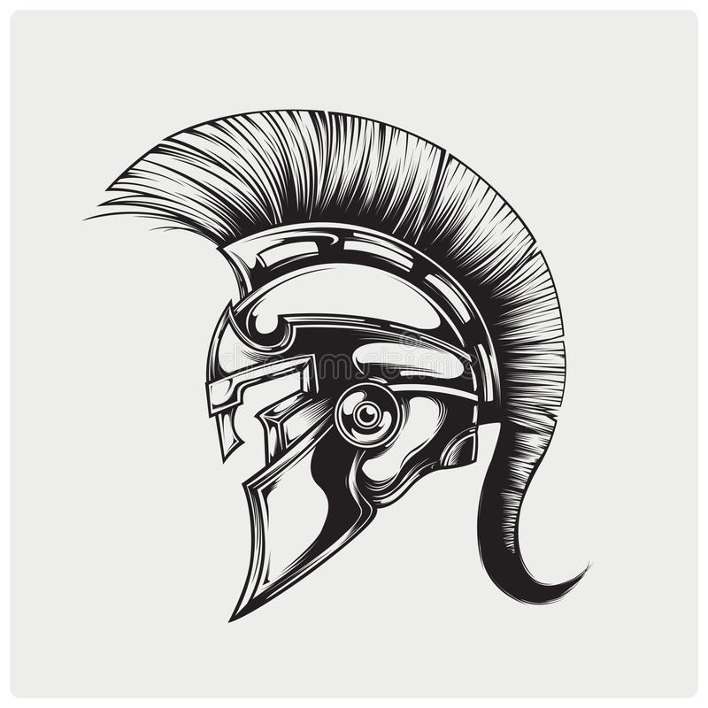 Vector illustration of warrior spartan royalty free stock photography
