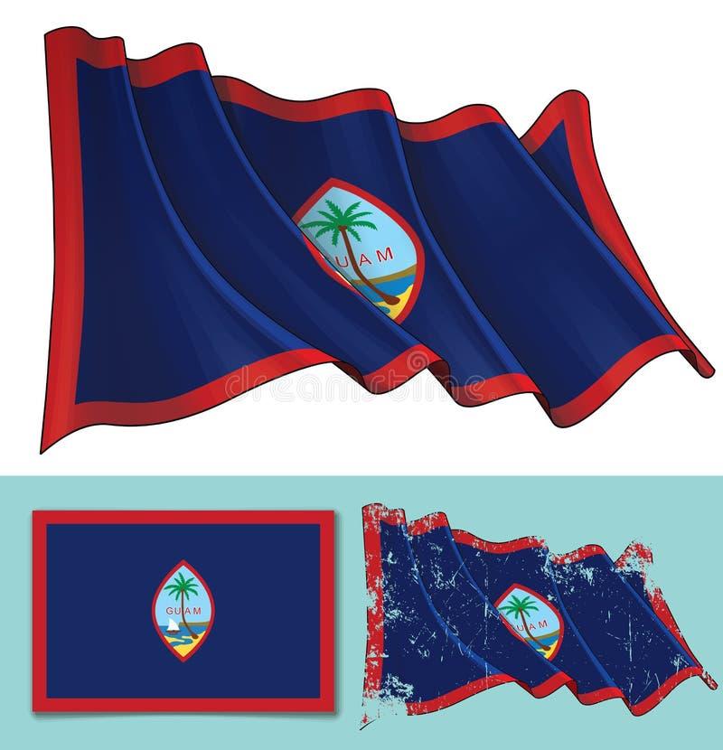 Waving Flag of Guam royalty free illustration