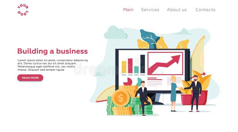 Vector illustration for web page, banner, presentation, social m royalty free illustration