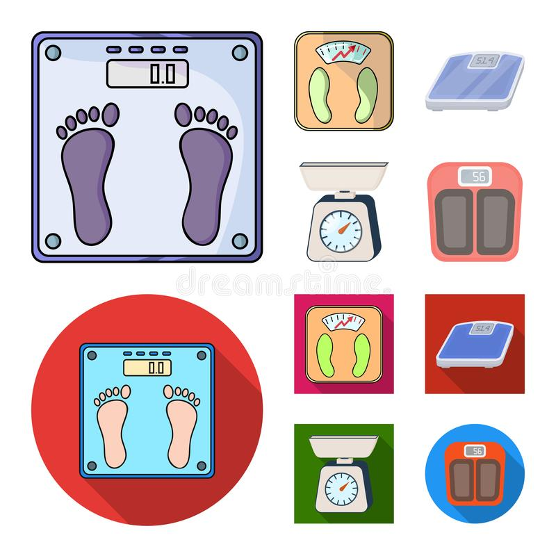 Vector illustration of weight and lab sign. Collection of weight and kitchen vector icon for stock. Isolated object of weight and lab logo. Set of weight and vector illustration