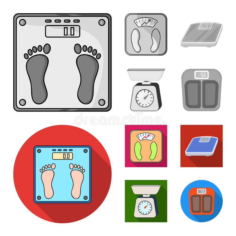 Vector illustration of weight and lab sign. Set of weight and kitchen vector icon for stock. Isolated object of weight and lab logo. Collection of weight and stock illustration