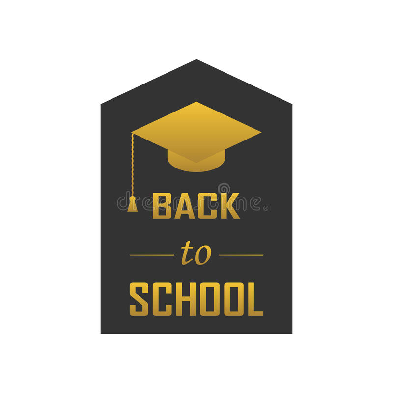 Vector illustration of Welcome back to school concept vector illustration