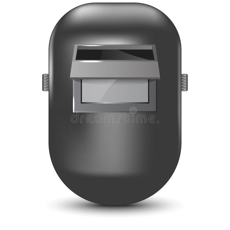 Vector illustration of welding mask stock images