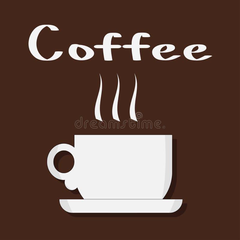 Vector illustration of a white coffee mug stock illustration