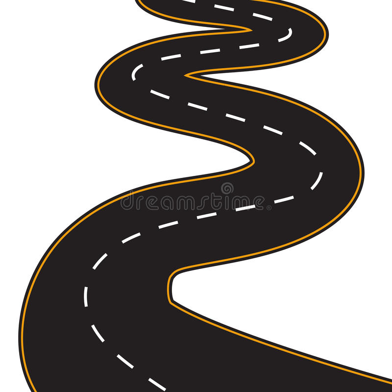 Vector Illustration of winding road stock illustration