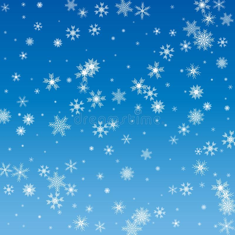 Vector Illustration of a Winter Background with Snowflakes.  vector illustration