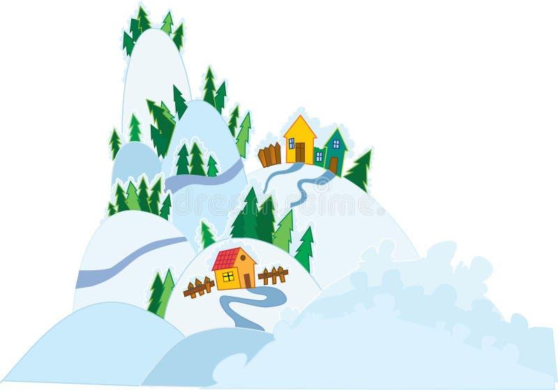 Winter. Vector illustration of the winter scenery royalty free illustration