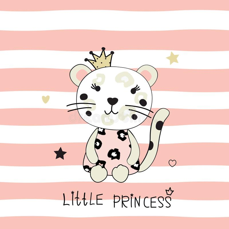 Free Vector Illustration With Cute Little Leopard Stock Photo - 109585920