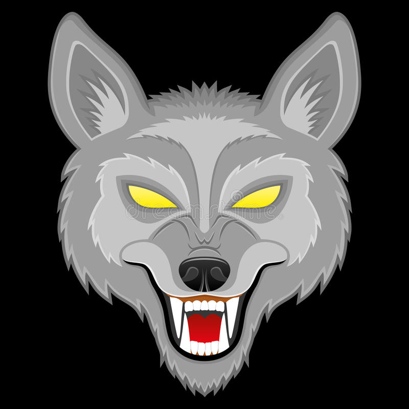 Vector illustration. Wolf. stock illustration