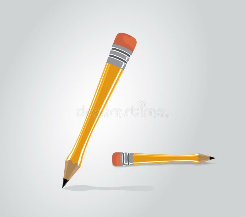 Vector illustration of wooden pen stock photo