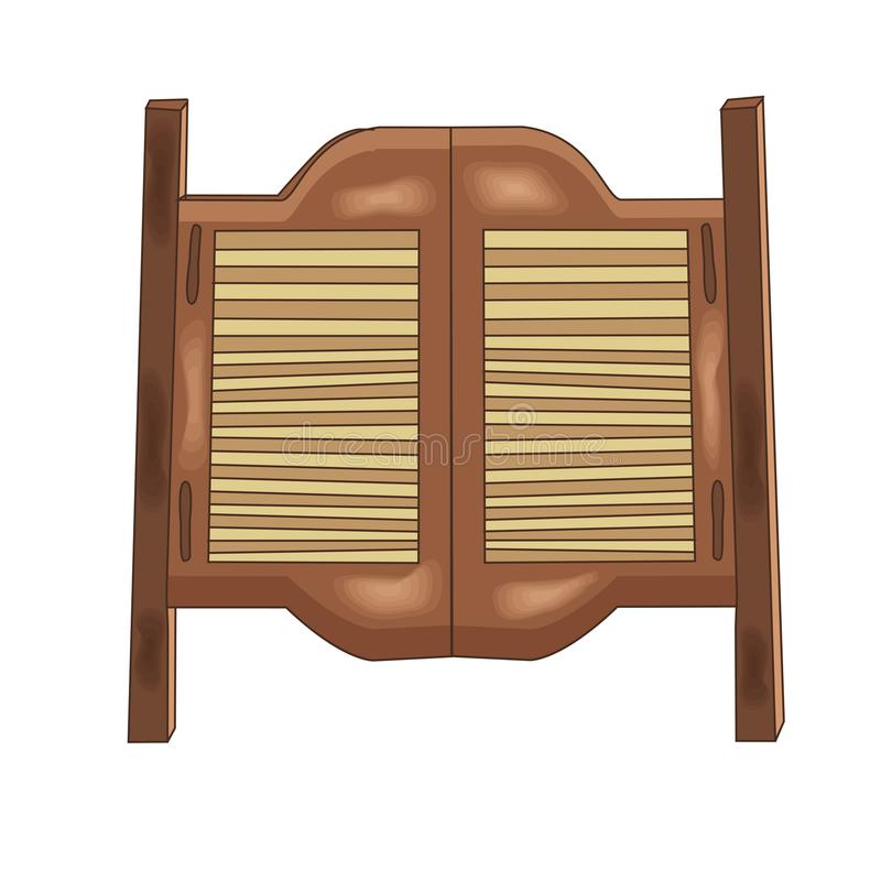 Download Vector Illustration Of A Wooden Saloon Door. Cartoon Style. Stock Illustration - Illustration  sc 1 st  Dreamstime.com & Vector Illustration Of A Wooden Saloon Door. Cartoon Style. Stock ...