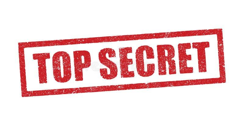 Top Secret ink stamp. Vector illustration of the word Top Secret in red ink stamp vector illustration