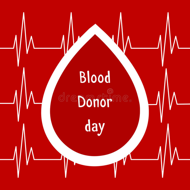 Vector illustration. World blood donor day June-14. Blood donation concept with drop. Global public health campaign by World Healt royalty free illustration