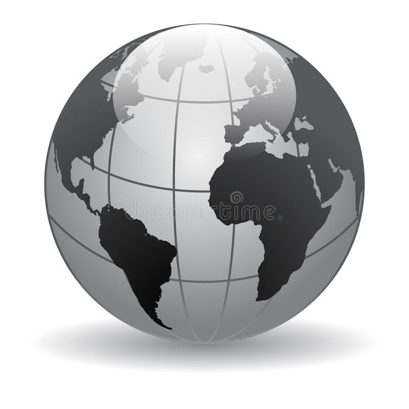Globe world maps vector illustration