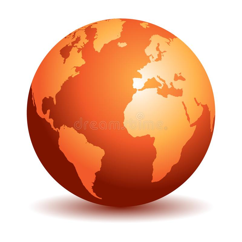 World globe maps stock illustration