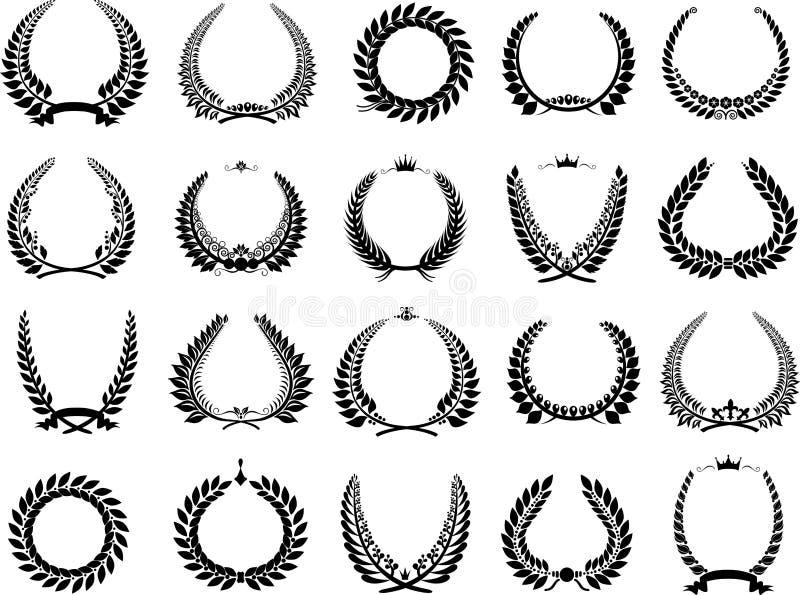 vector illustration wreaths triumph royalty free stock