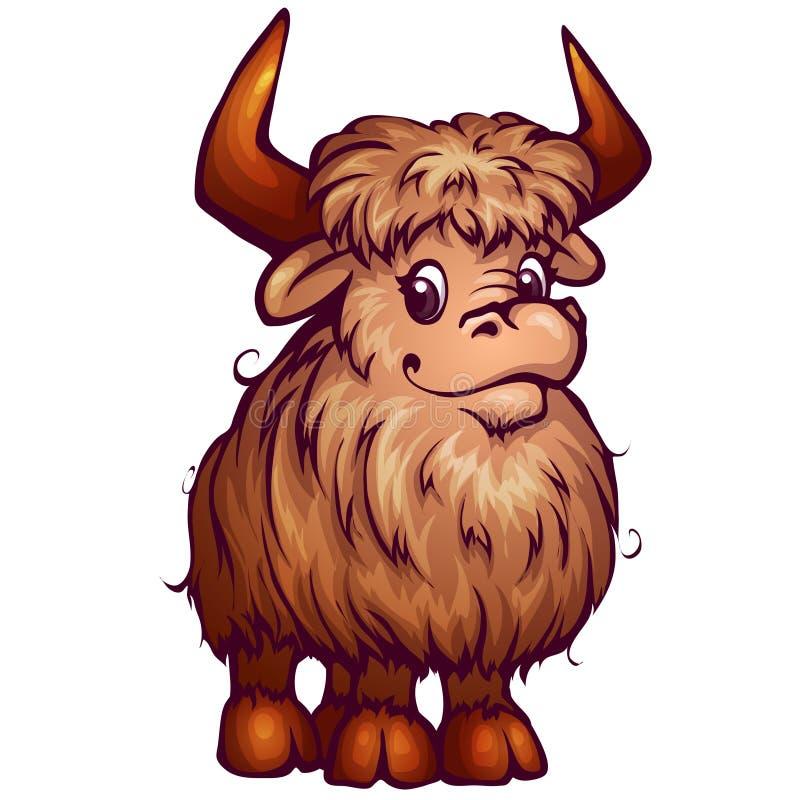 Vector illustration of yak in cartoon style royalty free illustration