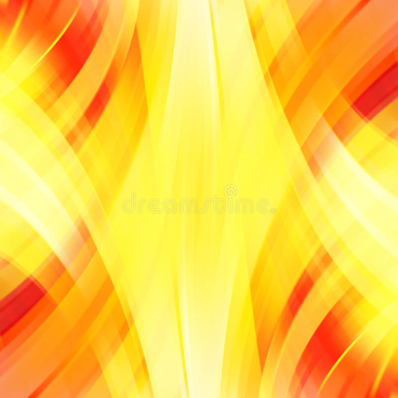 Vector illustration of yellow, orange abstract background stock illustration