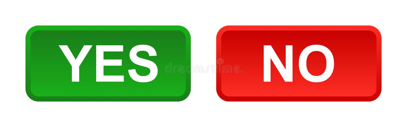 Yes no buttons. Vector illustration of yes no buttons web icon on white background vector illustration