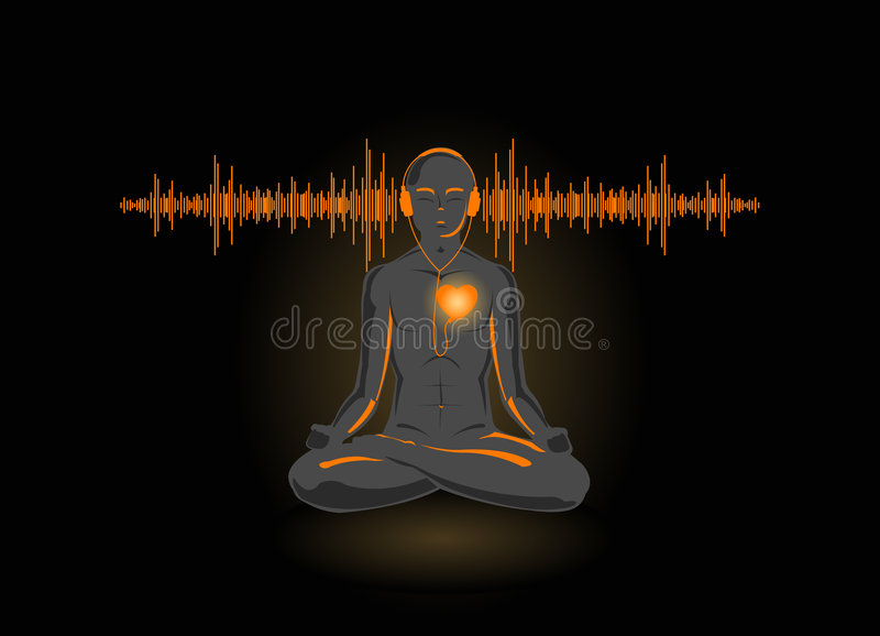 Download Vector Illustration Of Yoga Listening His Heart Stock Vector - Image: 7043680