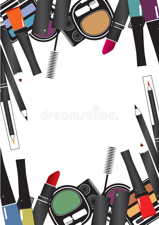 Vector illustrations of cosmetics royalty free illustration