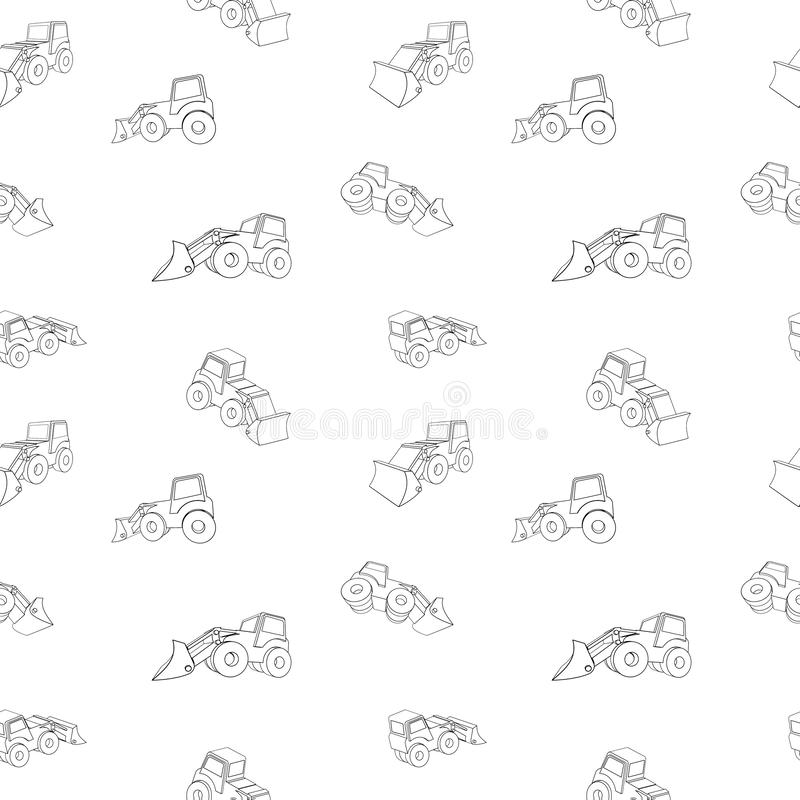 Vector Illustrations of a 3D tractor. In Different projections, from PRO-STICK stock illustration