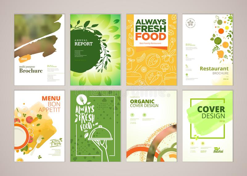 Set Of Restaurant Menu Brochure Flyer Design Templates In A Size