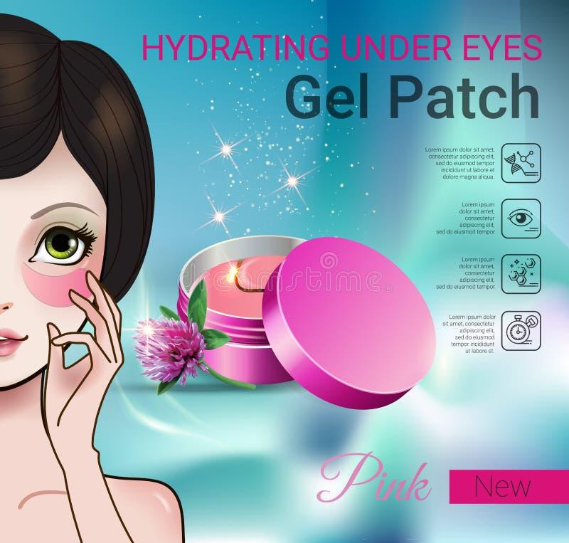 Vector a ilustração com os remendos da menina do estilo de Manga e do gel do olho ilustração royalty free