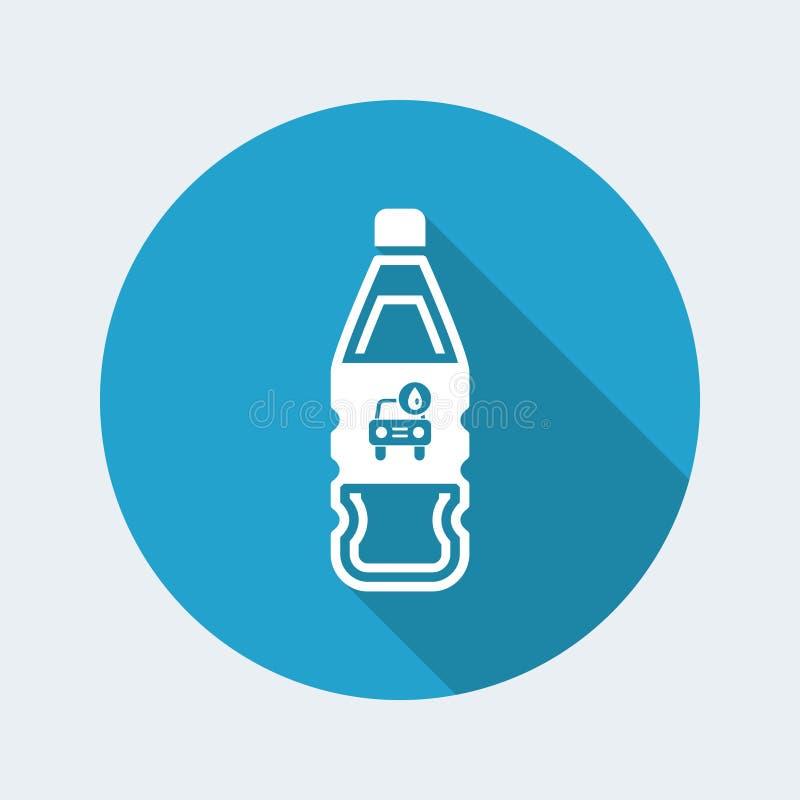 Vector a ilustração da única garrafa isolada CI do líquido de lavagem de carros ilustração royalty free