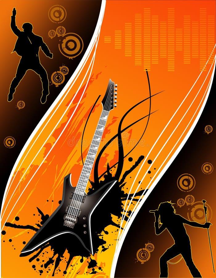 Vector a ilustração da música ilustração royalty free