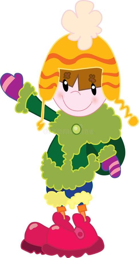 Download Menina na roupa do inverno ilustração do vetor. Ilustração de dezembro - 29842681