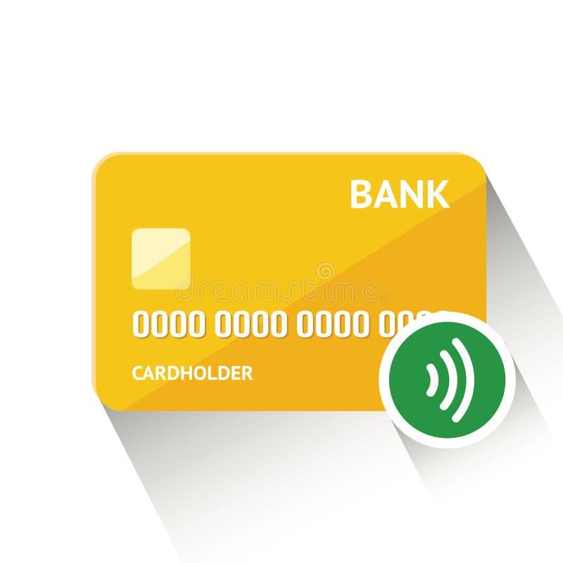 Vector a ilustração de cartão de crédito dourado detalhado isolado no fundo branco ilustração do vetor