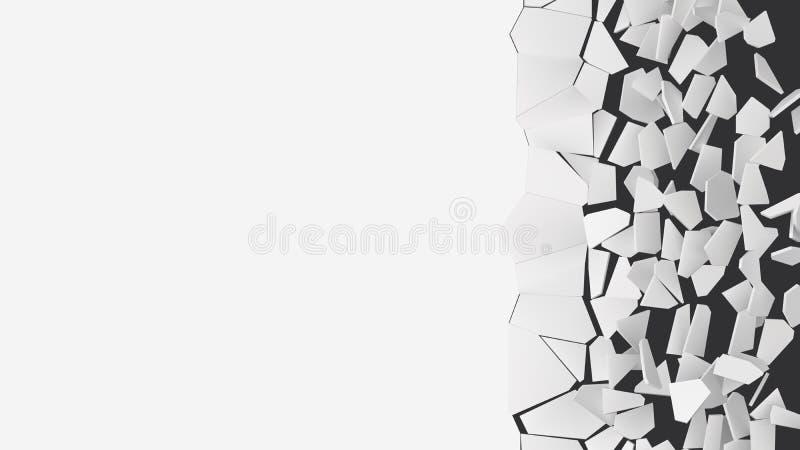 Vector a ilustração de quebrar a parede com área livre para o texto ilustração stock