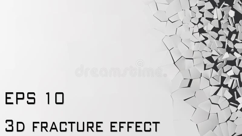 Vector a ilustração de quebrar a parede com área livre para o texto ilustração royalty free