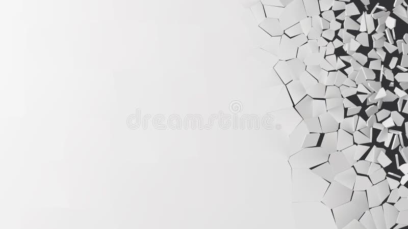 Vector a ilustração de quebrar a parede com área livre para o texto ilustração do vetor
