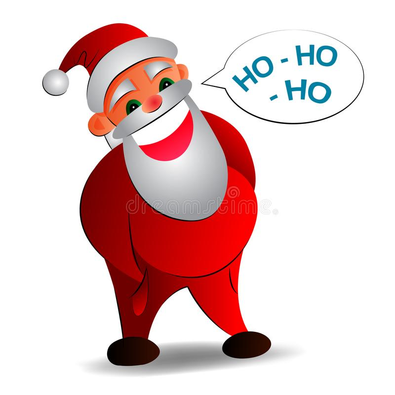 Vector a ilustração de Santa Claus em um fundo branco fotos de stock
