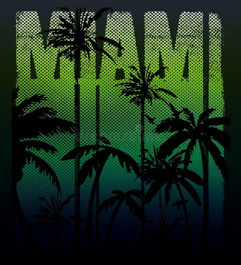 Vector a ilustração de surfar fresco em Miami Miami que surfa o de ilustração do vetor