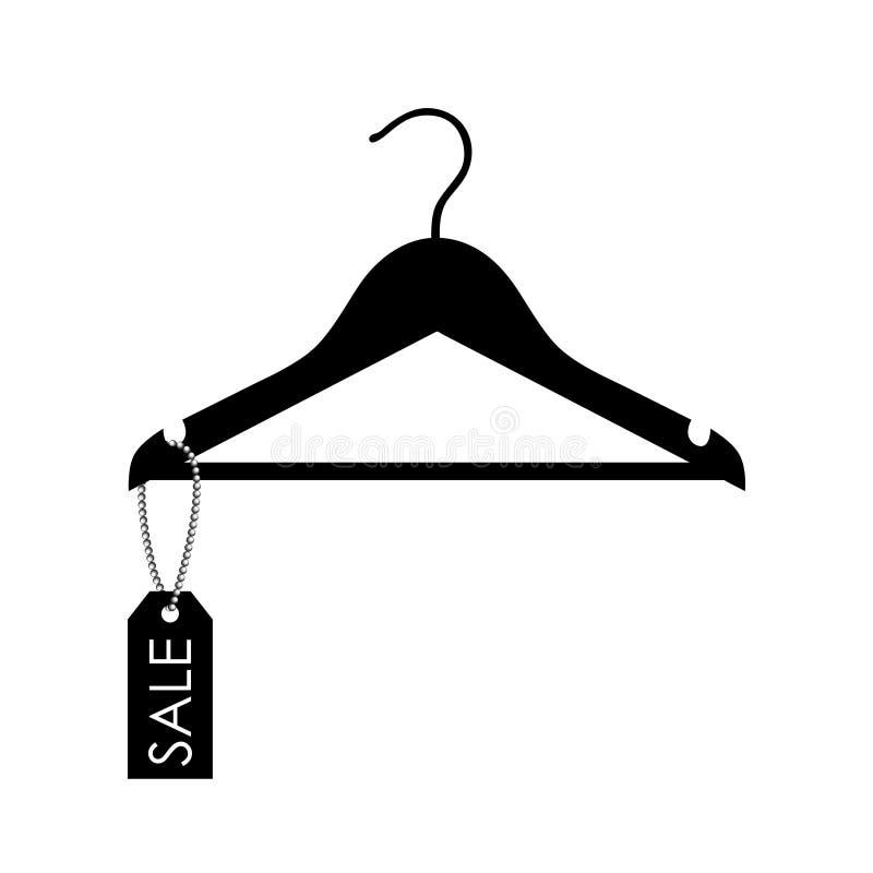 Vector a ilustração de um gancho com etiqueta da venda ilustração royalty free