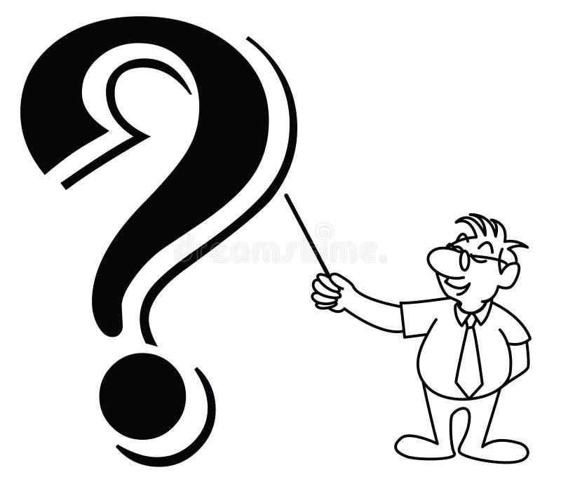 Vector a ilustração de um homem pequeno da tira que pede f ilustração do vetor