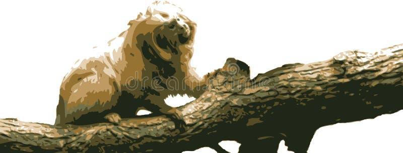 Vector a ilustração de um macaco ilustração royalty free