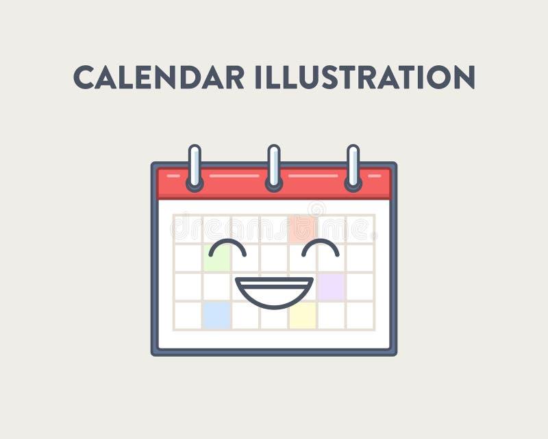 Vector a ilustração de um simples, bonito, sorrindo foto de stock royalty free