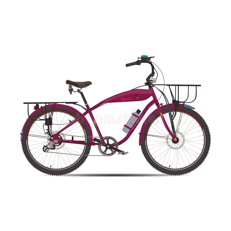 Vector a ilustração de visitar a bicicleta no estilo liso ilustração do vetor