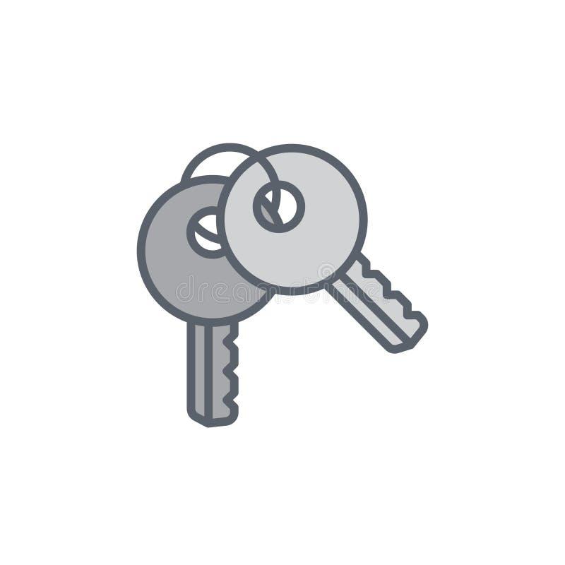 Vector a ilustração do ícone com duas chaves no estilo do esboço ilustração royalty free