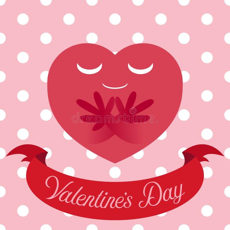 Vector a ilustração do coração vermelho no fundo sem emenda bonito ilustração royalty free