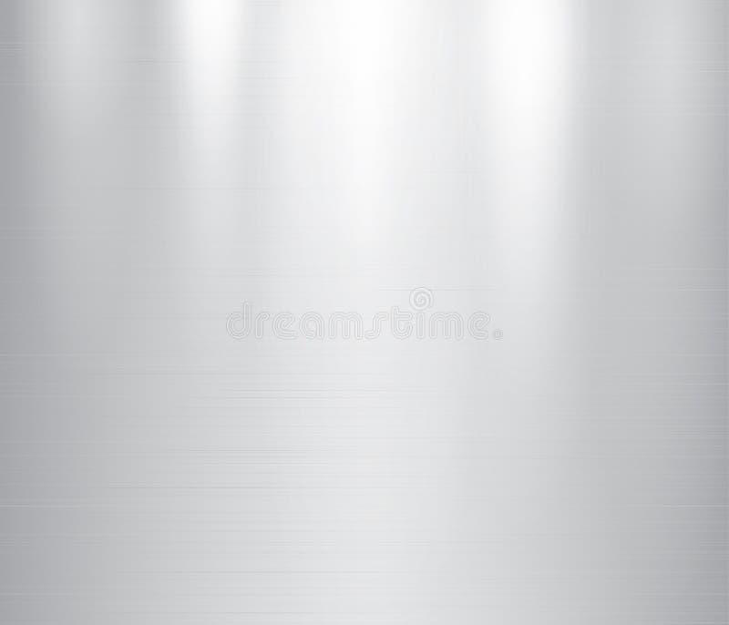 Vector a ilustração do metal cinzento, fundo de aço inoxidável da textura ilustração stock