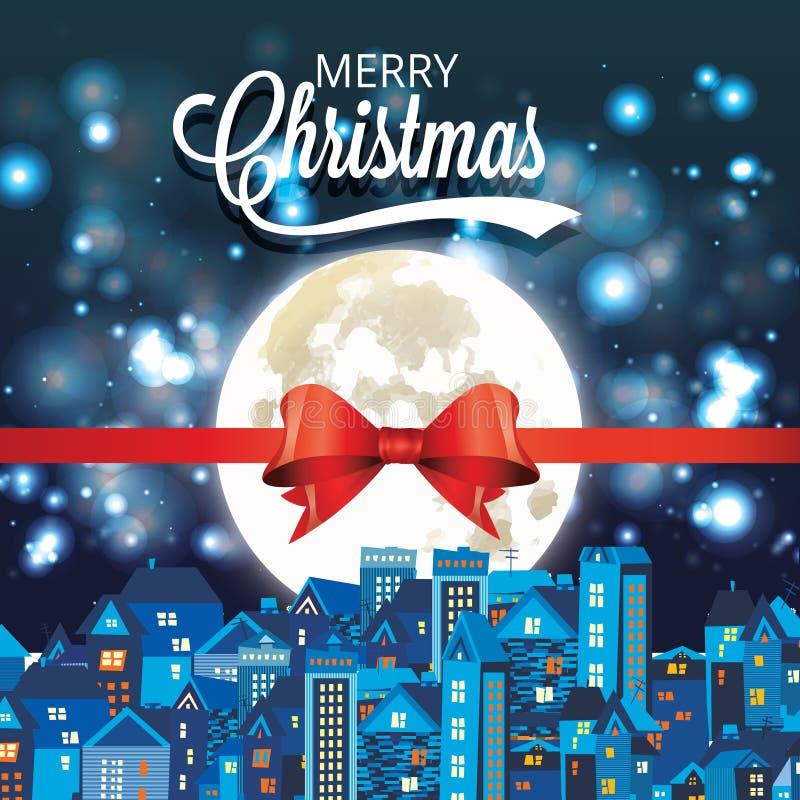 Vector a ilustração do Natal e do ano novo decorada ilustração do vetor